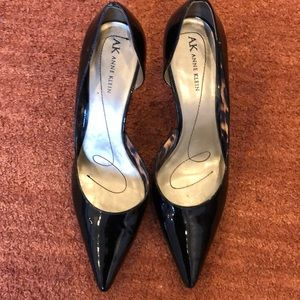 Anne Klein Black Patten Leather Heels